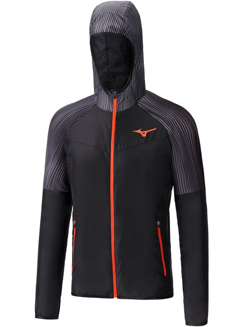 Mizuno Printed Hoodie Jacket Men black